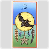 Bat Animal Totem card from the Sacred Paths deck.